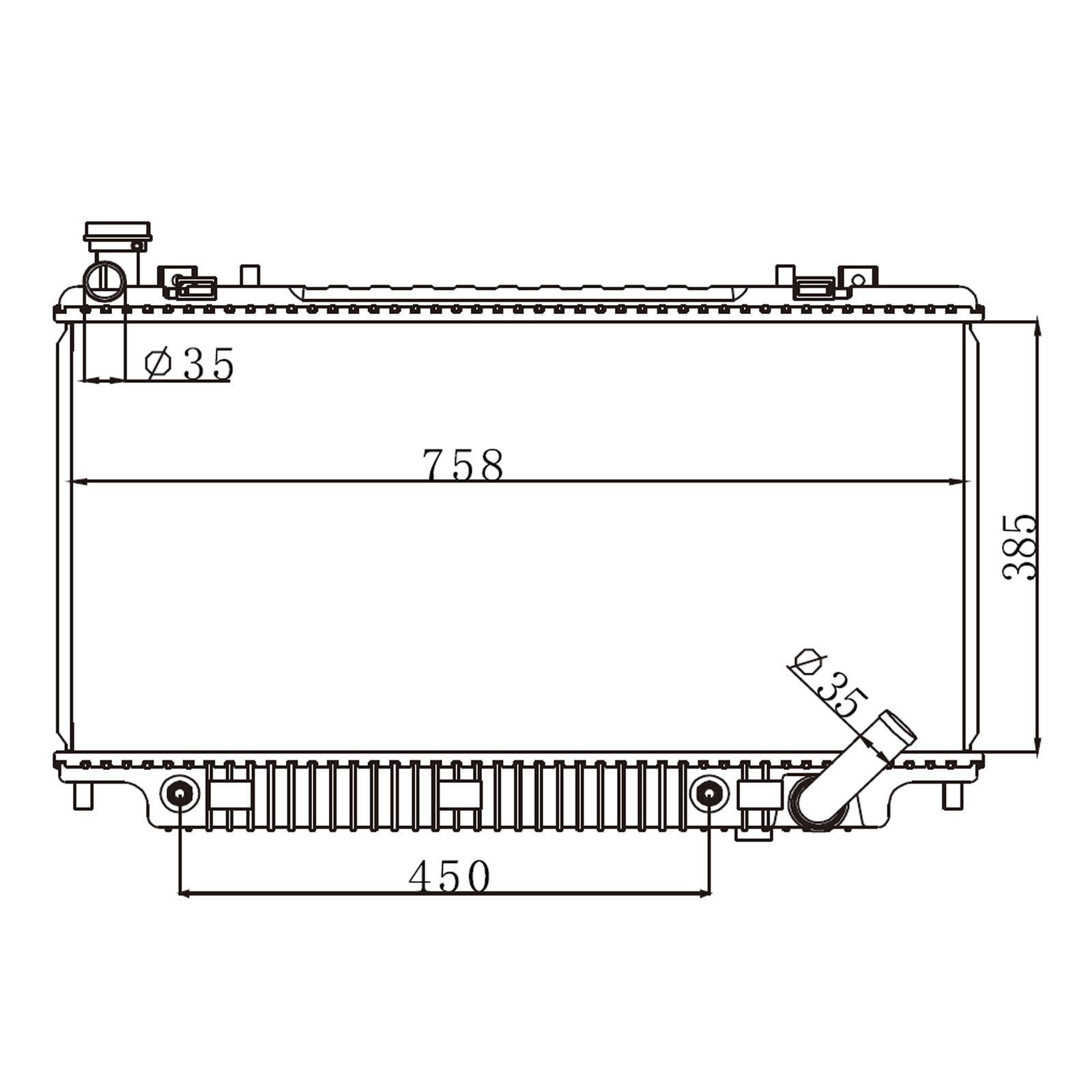 Dromedary-High Quality New 2688 Full Aluminum Radiator For Lexus Rx 330 33-202-v6