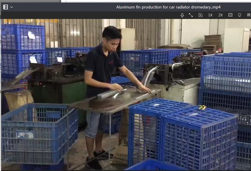 Alunimum fin production for car radiator dromedary